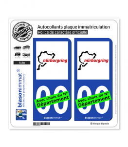 Nürburgring - Circuit | Autocollant plaque immatriculation