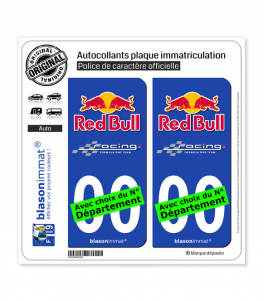 Red Bull - Formula One Team | Autocollant plaque immatriculation