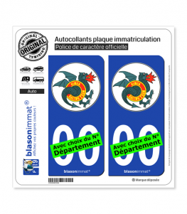 Simca Racing Team | Autocollant plaque immatriculation