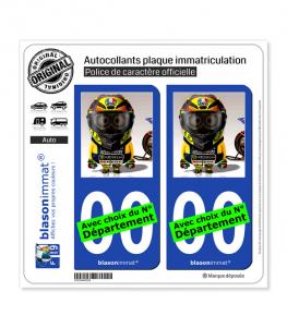 Valentino Rossi - Minion GP | Autocollant plaque immatriculation