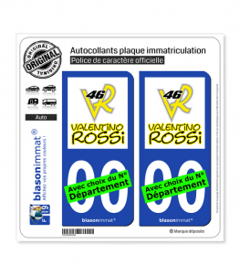 Valentino Rossi - VR46 | Autocollant plaque immatriculation