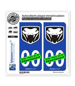 Viper Fangs | Autocollant plaque immatriculation