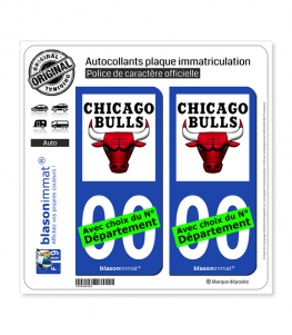 Bulls de Chicago - Basket-ball | Autocollant plaque immatriculation
