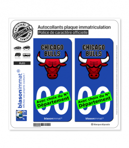 Bulls de Chicago - Basket-ball II | Autocollant plaque immatriculation