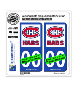 Canadiens - Habs | Autocollant plaque immatriculation