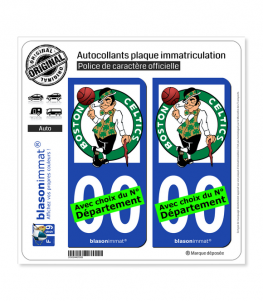 Celtics de Boston - Basket-ball | Autocollant plaque immatriculation