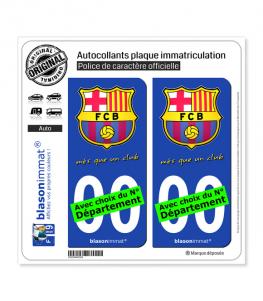 Autocollant plaque immatriculation d/épartement auto droit Catalogne