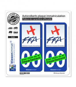 FF Aéronautique | Autocollant plaque immatriculation