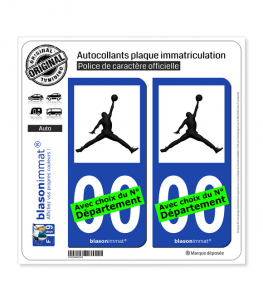 Jumpman - Michael Jordan | Autocollant plaque immatriculation