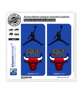 Jumpman - Chicago Bulls | Autocollant plaque immatriculation