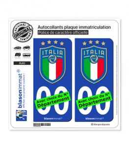 La Squadra Azzurra - Blason | Autocollant plaque immatriculation