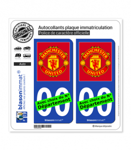 Manchester United - Football Club | Autocollant plaque immatriculation