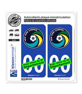 New York Cosmos - Soccer | Autocollant plaque immatriculation