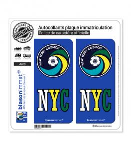NYC New York Cosmos - Soccer | Autocollant plaque immatriculation