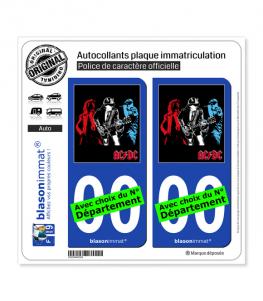 AC-DC | Autocollant plaque immatriculation