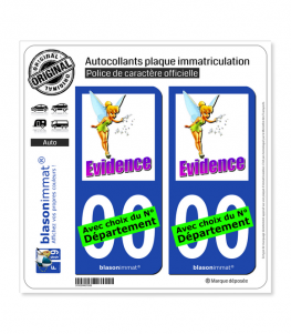 Fée Clochette - Évidence | Autocollant plaque immatriculation