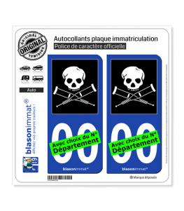 Jackass | Autocollant plaque immatriculation