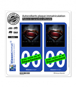 Man of Steel | Autocollant plaque immatriculation
