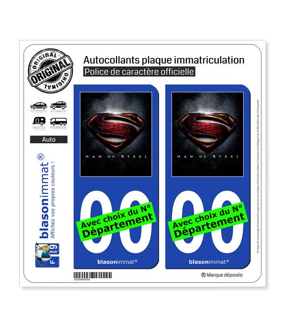 Man of Steel | Autocollant plaque immatriculation