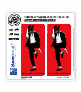 Michael Jackson - King of Pop | Autocollant plaque immatriculation