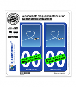 Airlinair - Fidélisation | Autocollant plaque immatriculation