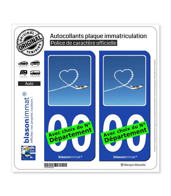Airlinair - Fidélisation   Autocollant plaque immatriculation