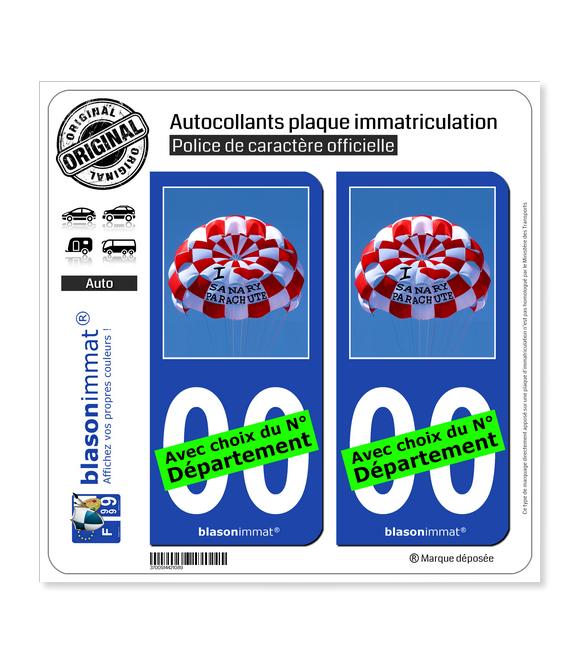 I Sanary Parachute | Autocollant plaque immatriculation