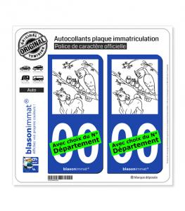 Spirit et Chouette | Autocollant plaque immatriculation