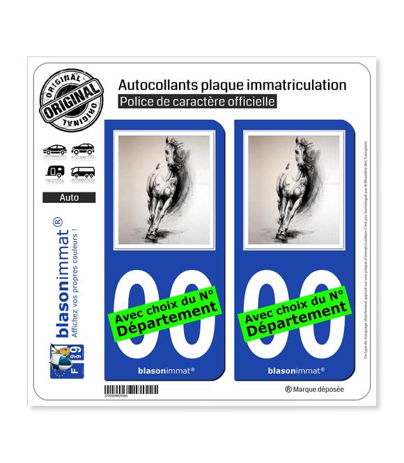 L'Art du Cheval | Autocollant plaque immatriculation