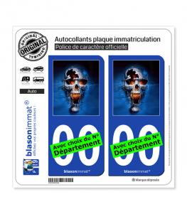 Skull Fantasy | Autocollant plaque immatriculation