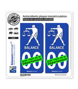 Balance - Emblème | Autocollant plaque immatriculation