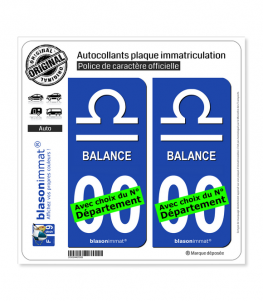 Balance - Symbole | Autocollant plaque immatriculation
