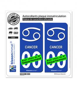 Cancer - Symbole | Autocollant plaque immatriculation