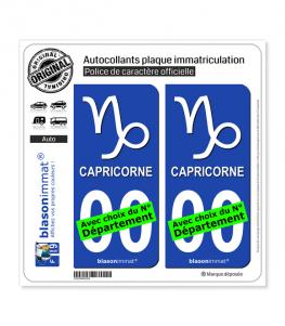 Capricorne - Symbole | Autocollant plaque immatriculation