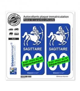 Sagittaire - Emblème | Autocollant plaque immatriculation
