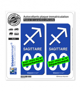 Sagittaire - Symbole | Autocollant plaque immatriculation