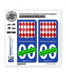 Monaco - Blason | Autocollant plaque immatriculation