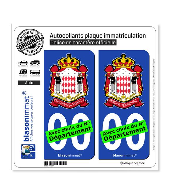 Monaco - Carabiniers du Prince | Autocollant plaque immatriculation