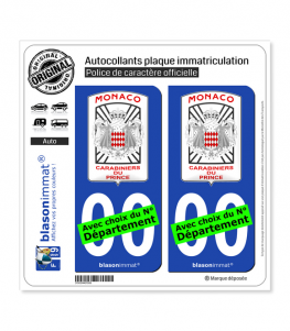 Monaco - Garde Monégasque | Autocollant plaque immatriculation