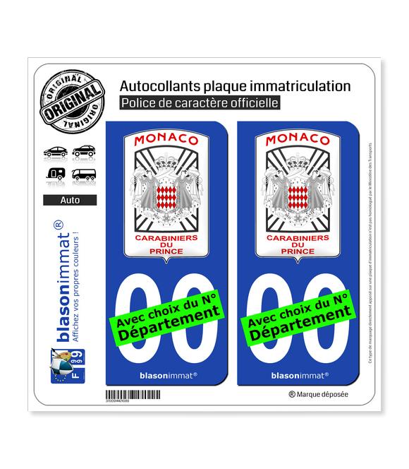 Monaco - Garde Monégasque   Autocollant plaque immatriculation