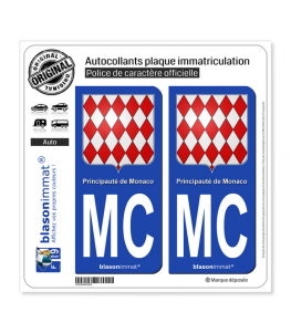 MC Monaco - Blason | Autocollant plaque immatriculation