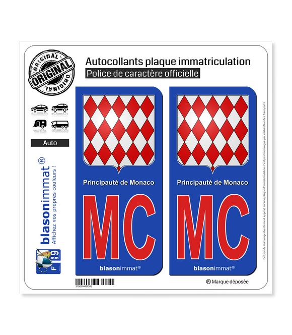 MC Rouge Monaco - Blason | Autocollant plaque immatriculation