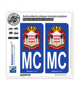 MC Monaco - Carabiniers du Prince | Autocollant plaque immatriculation