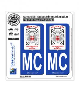 MC Monaco - Garde Monégasque | Autocollant plaque immatriculation