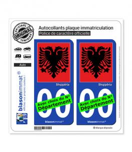 Albanie - Aigle Albanais | Autocollant plaque immatriculation