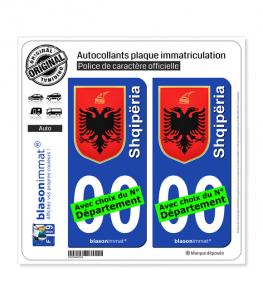 Albanie - Armoiries | Autocollant plaque immatriculation