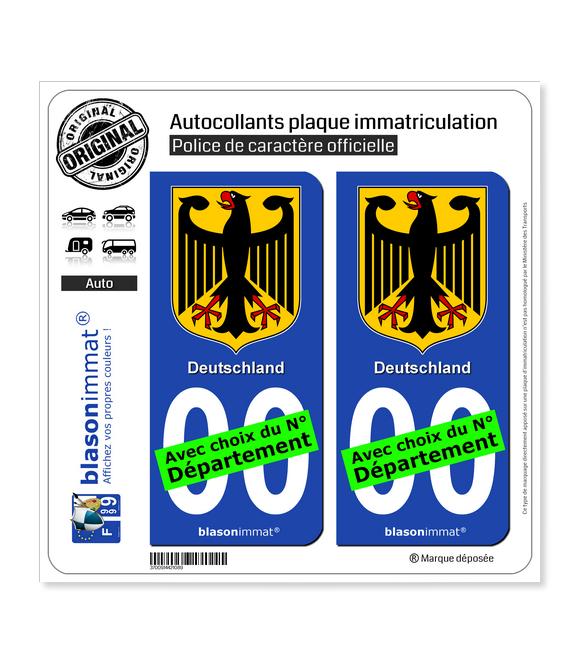 Allemagne - Armoiries | Autocollant plaque immatriculation