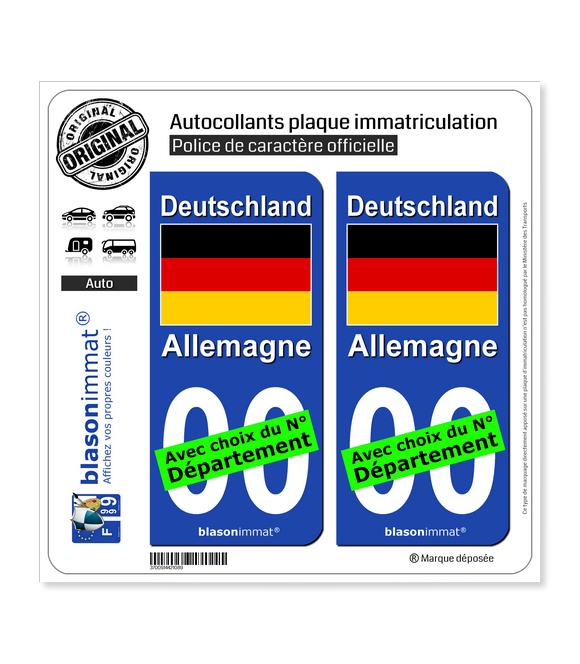 Allemagne - Drapeau | Autocollant plaque immatriculation