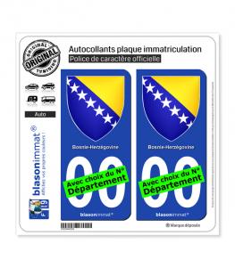 Bosnie-Herzégovine - Armoiries | Autocollant plaque immatriculation