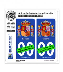 Espagne - Armoiries | Autocollant plaque immatriculation